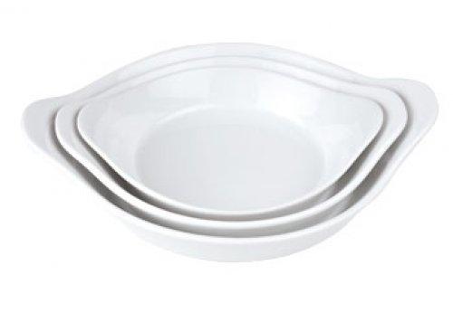 Porzellan-Schale z.B. für Crème Brulée, 13 x 16 x 2,5 cm