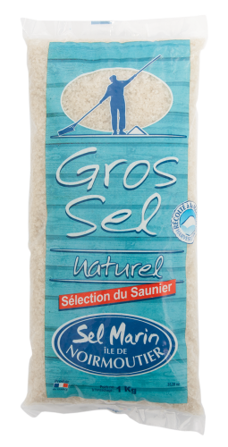 Grobes Meersalz (Atlantik) von der Insel Noirmoutier, 1 kg, Grundpreis 3,95 EUR / kg