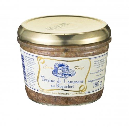 Landterrine mit Roquefortkäse aus Frankreich, 180g, Grundpreis 1,64 EUR / 100 g