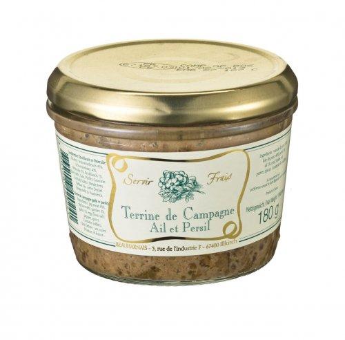 Landterrine mit Knoblauch und Petersilie aus Frankreich, 180g, Grundpreis 1,64 EUR / 100 g