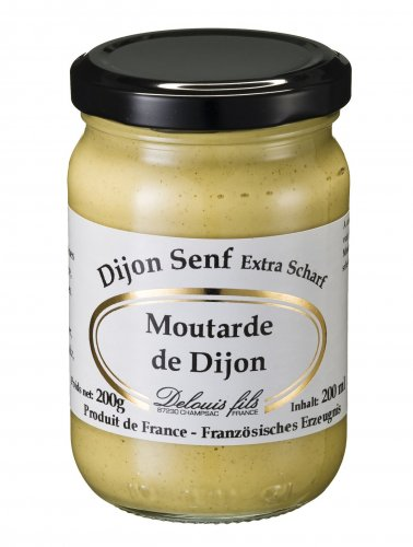 Dijon Senf extra scharf aus Frankreich, 186 ml, Grundpreis 1,59 EUR/100 ml