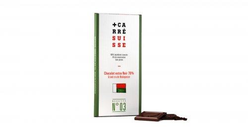 Carré Suisse dunkle Schokolade mit 70% Kakaoanteil, 100g, Grundpreis 4,95 EUR / 100 g