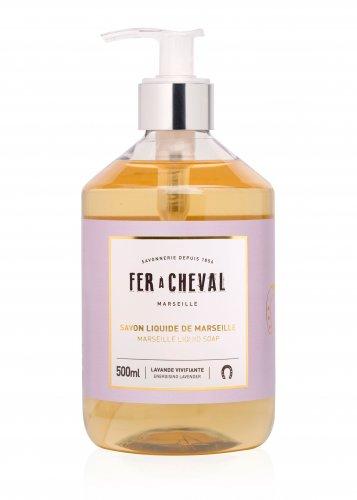 Flüssige Marseille Seife FER à CHEVAL mit Lavendelduft, 500ml, Grundpreis 23,90 EUR / Liter