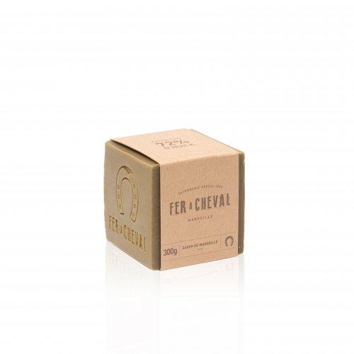 Echte Marseille Seife mit Olivenöl - FER à CHEVAL, 300 g, Grundpreis 16,50 EUR / kg